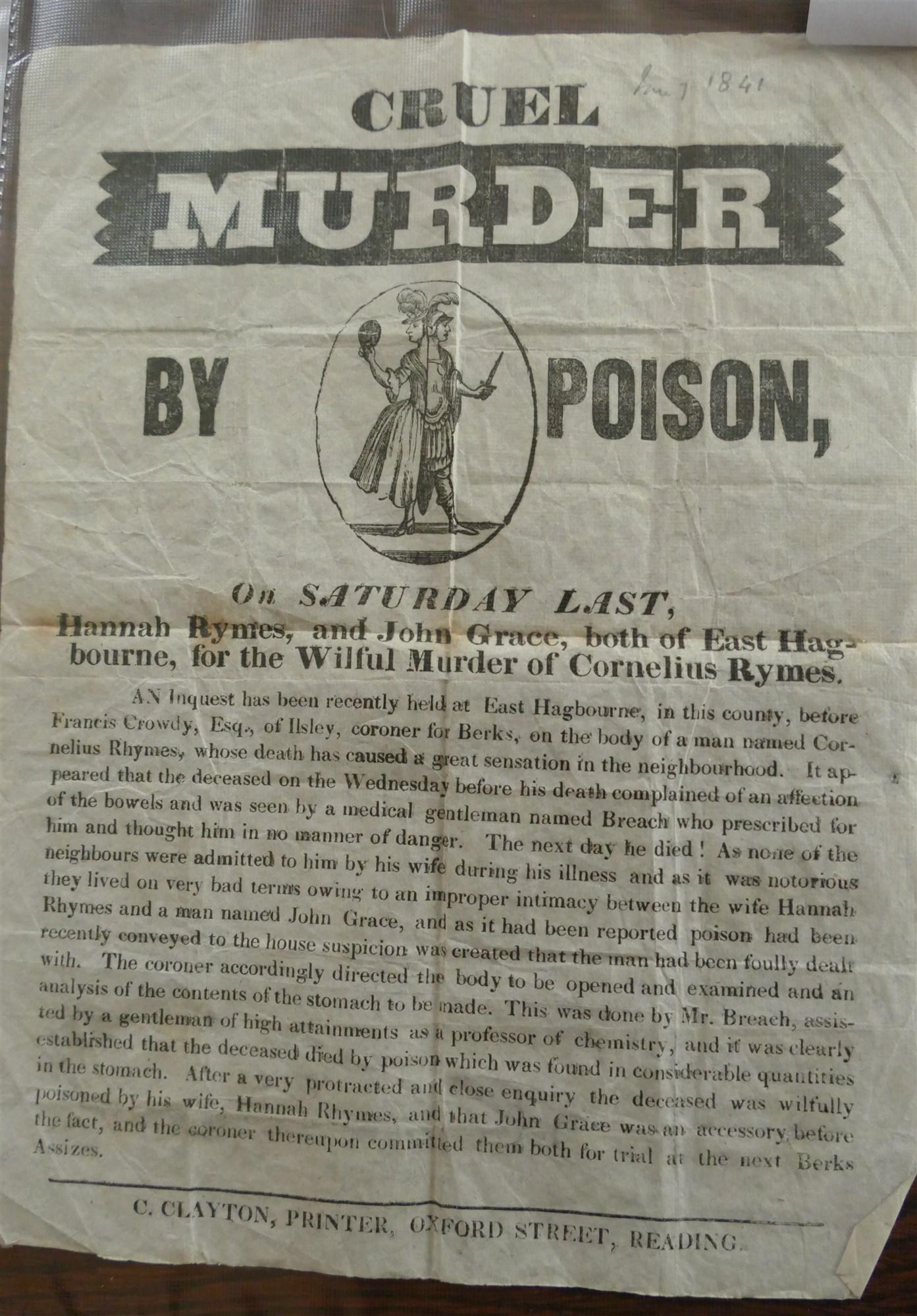 Cornelius Rhymes murder Alfred Swaine Taylor