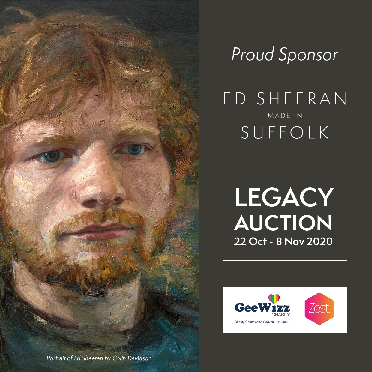 Ed Sheeran Made in Suffolk Global Legacy Auction