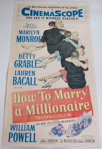 Lot 542 - How to Marry a Millionaire, original three...
