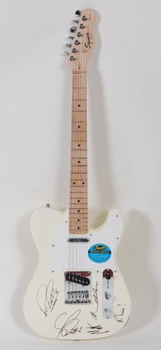 Lot 501-A fender telecaster guitar in cream and white,...