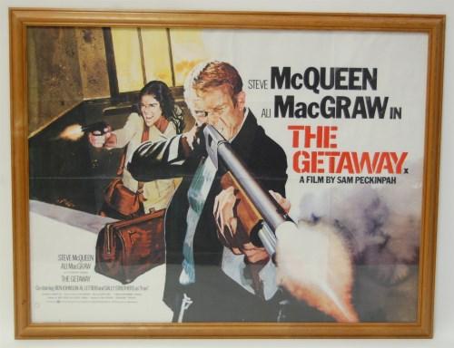 Lot 579-The Getaway, 1979 British Quad film poster,...