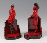 Lot 2 - Peggy Davies Ceramics - Ruby Fusion model of a...