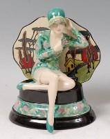 Lot 13 - Peggy Davies Ceramics - Daydreamer, modelled...