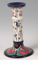 Lot 19 - A contemporary Moorcroft Pottery candlestick...