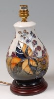 Lot 23 - A contemporary Moorcroft Pottery table lamp,...