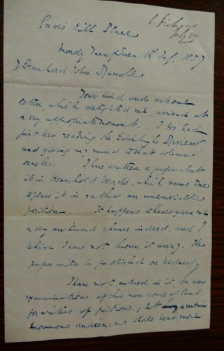 Lot 1038-DICKENS, Charles, letter signed, 27th July 1857,...