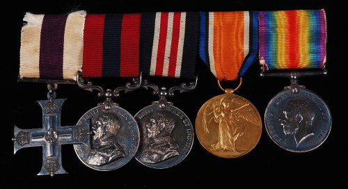 Lot 304-A Geo. V. Military Cross group of five to include ...