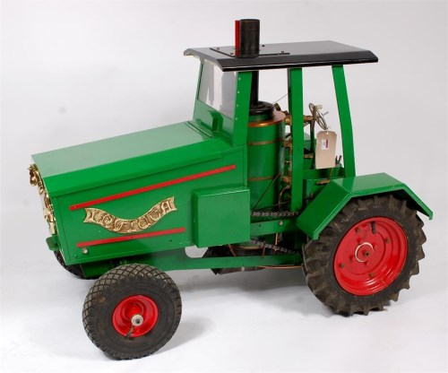 Lot 95-3 inch scale Caradoc Steam Tractor, built to John ...