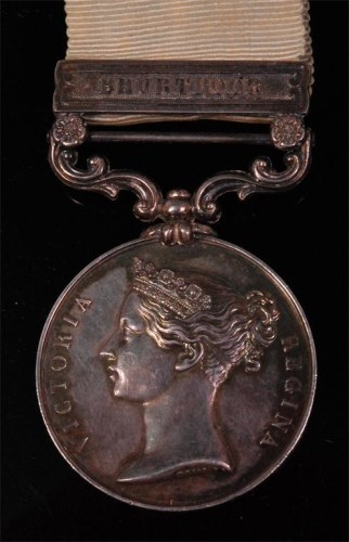 Lot 241-An Army of India (1799-1826) medal, short hyphen...
