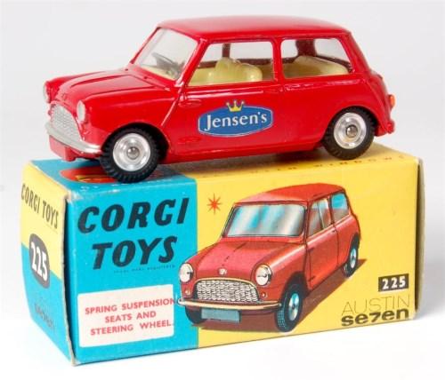 Lot 1633 - Corgi Toys, 225 'Jensens' Austin 7 mini saloon,...