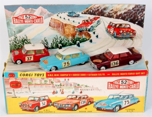 Lot 1707-Corgi, gift set No.38, BMC Mini Cooper 317, red...