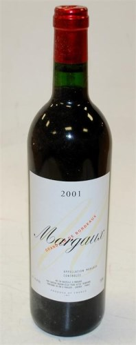 Lot 406-Chateau Margaux, 2001, Margaux six bottles (OWC)