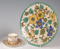 Lot 6 - An early 20th century Gouda pottery circular...