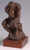 Lot 22 - After Rodin - The Thinker bronzed composition,...