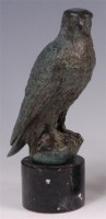 Lot 23 - A contemporary green patinated bronze model of...