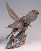 Lot 24 - A Fine Pewter cast model of a bald eagle, in...