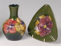 Lot 4 - A small Moorcroft painted and glazed pottery...