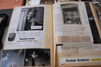 Lot 17 - Four albums containing press cuttings, to...