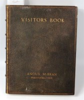 Lot 30 - Angus MCBEAN - Studio Visitors Book with over...