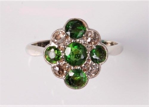 Lot 2626-An early 20th century demantoid garnet and...