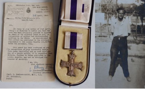 Lot 1304-An interesting George VI Military Cross medal...