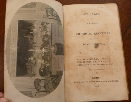 Lot 2001-Syllabus of A Course of Chemical Lectures...