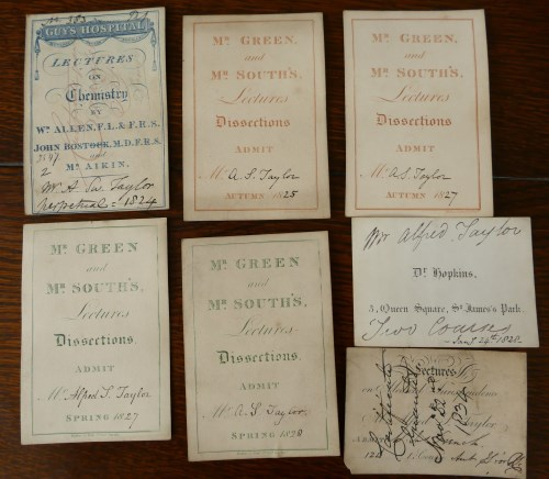 Lot 2002-Collection of 24 admission tickets to lectures...