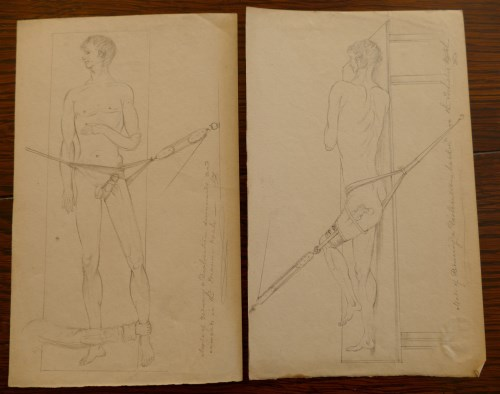Lot 2005 - Alfred Swaine Taylor, 14 medical sketches, 13...
