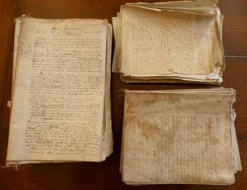 Lot 2022-Archive Box; Alfred Swaine Taylor manuscript...