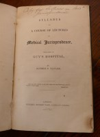 Lot 2030 - Syllabus of A Course of Lectures on Medical...