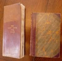 Lot 2047 - Mss notebook, 8vo, half calf, undated...