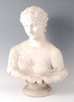 Lot 1024 - A Victorian Copeland parian bust of a maiden,...