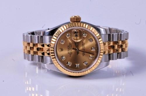 Lot 1173 - A lady's Rolex bi-metal Oyster Perpetual...