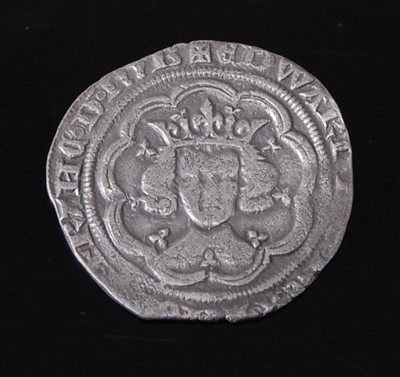 Lot 2002-England, Edward III groat, London mint, 1334-1351,...