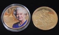 Lot 2012-Great Britain, 2010 Elizabeth II gold plated...