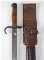 Lot 28-A British 1907 pattern bayonet, the 43cm single...