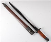 Lot 35-An Australian 1907 pattern bayonet, having a 43cm ...