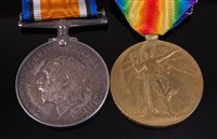 Lot 44-A WW I British War and Victory duo, naming 203354....
