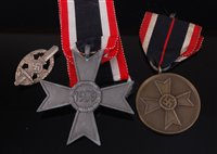 Lot 45-A German War Merit Cross 2nd class, together with ...