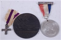 Lot 46-A miniature Military Cross, together with a...