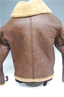 Lot 7-A WW II R.A.F. Irvin flying jacket, in brown...