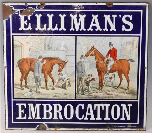 Lot 425 - An early 20th century enamel advertising sign...