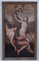 Lot 2503-18th century school - The Temptation of Adam and...