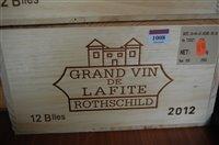 Lot 1008-Château Lafite Rothschild 2012 Pauillac, twelve...