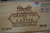 Lot 1009-Château Lafite Rothschild 2013 Pauillac, twelve...