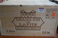 Lot 1010-Château Lafite Rothschild 2014 Pauillac, twelve...