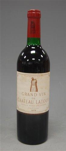 Lot 1025-Château Latour 1979 Pauillac, one bottle