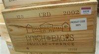 Lot 1039-Château Lynch-Bages 2002 Pauillac, twelve bottles ...