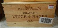 Lot 1041-Château Lynch-Bages 2006 Pauillac, six bottles...