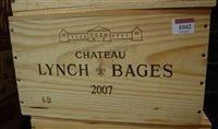 Lot 1042-Château Lynch-Bages 2007 Pauillac, six bottles...